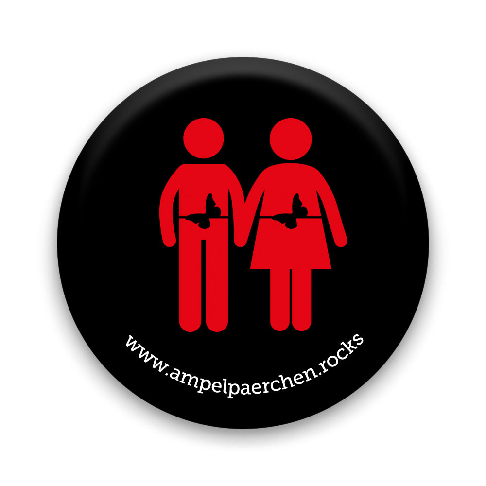 Needle button - Let's feel red together! Man♥Woman