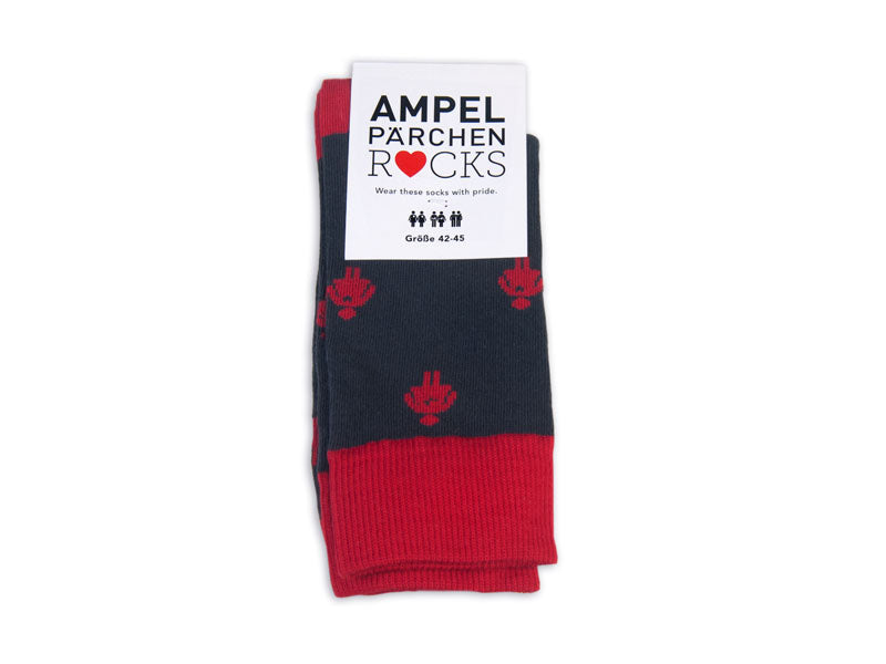 Socks Unisex Allover red