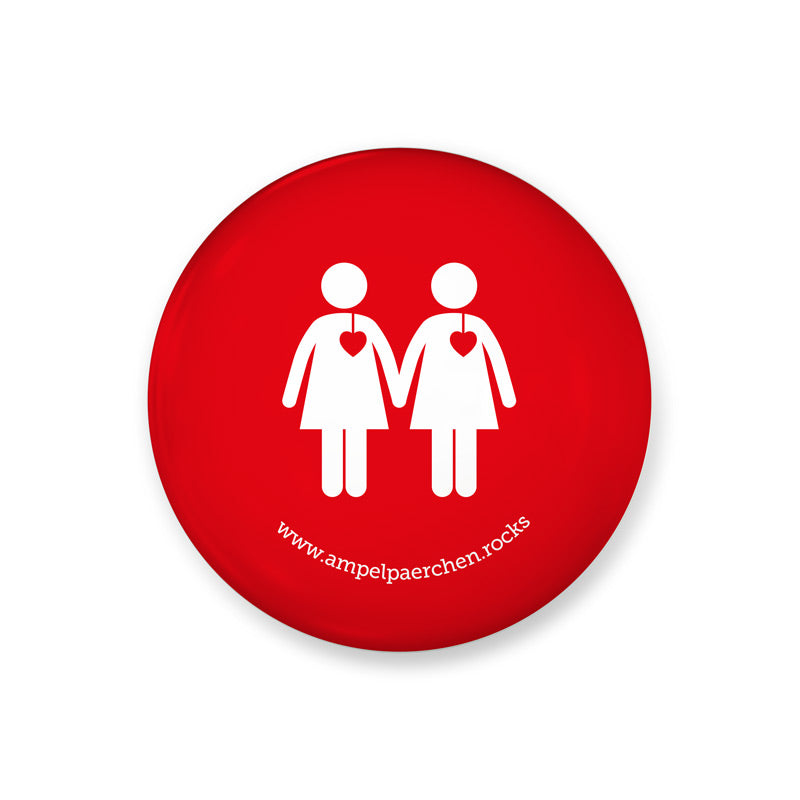 Needle button - Stop red Voice! Woman♥Woman