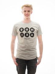Hot T-shirt meets vintage look in two stunning colours: grey and petrol! T-Shirt, Short Sleeves