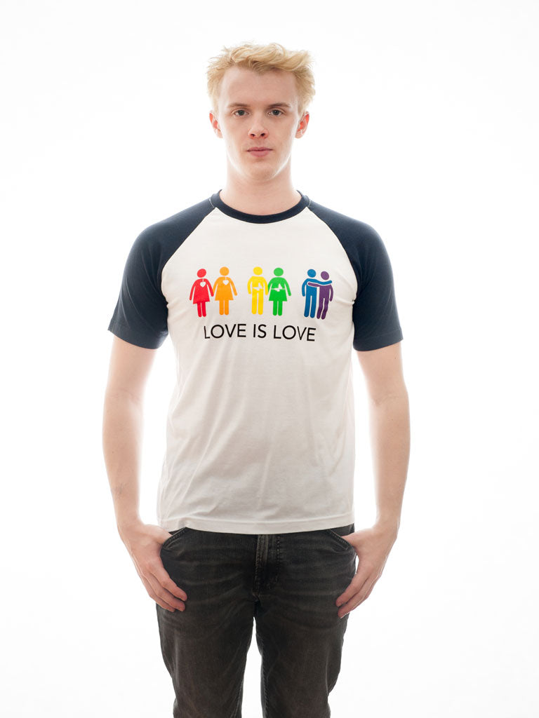 Love is Love - T-Shirt - White/Navy - Unisex