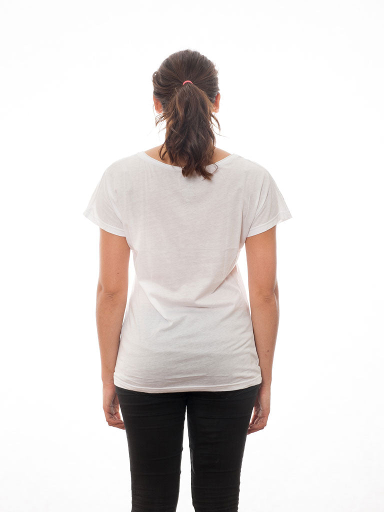 White T-Shirt with our Collection's Classic - All Lights at First Sight