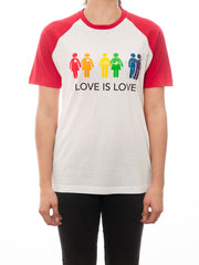Love is Love T-Shirt -  White/Red - Unisex