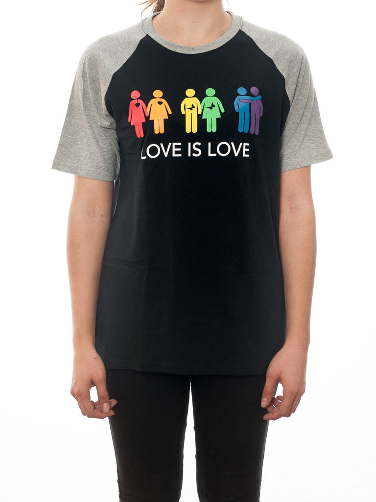 Love is Love - T-Shirt -  Black/Grey