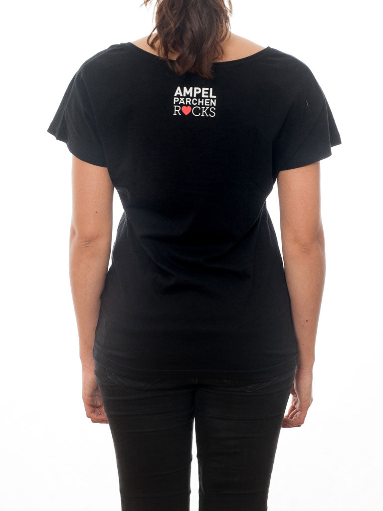 Black T-Shirt with our Collection's Classic - All Lights at First Sight