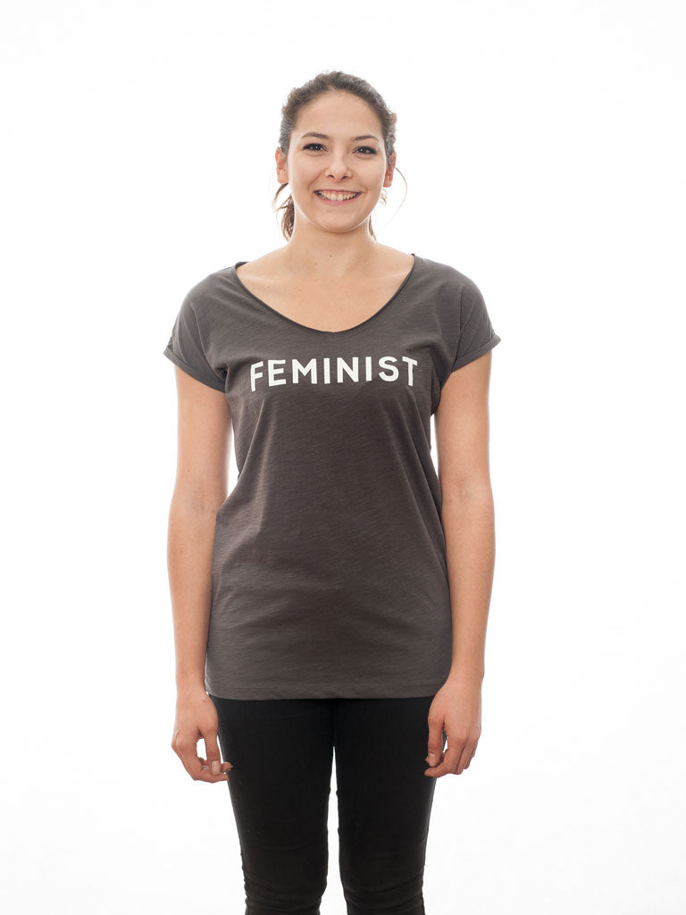 Feminist - T-Shirt - Anthracit