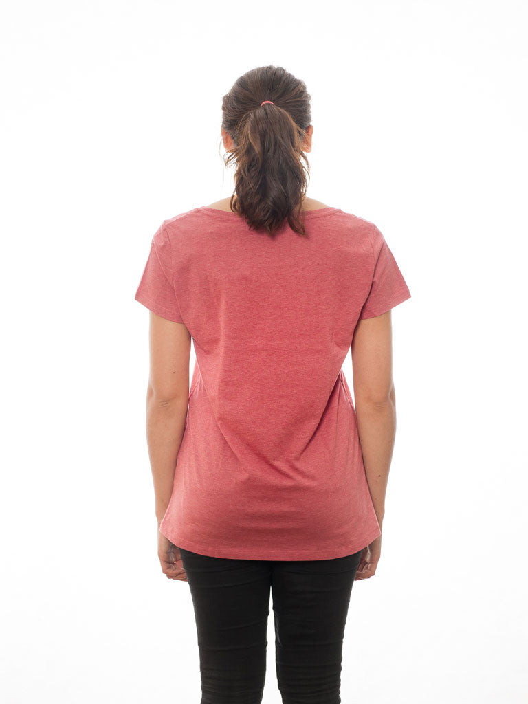 A Human Heather Cranberry - T-Shirt - Statement