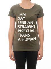A Human Khaki - T-Shirt - Statement