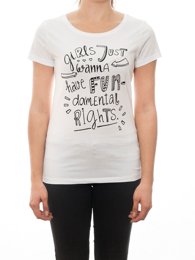 Girls just wanna have fun - T-Shirt - White