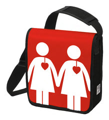 Red Statement bag, female traffic light couple