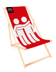 Deckchair Let's go together red - for your lazy day in the sun!