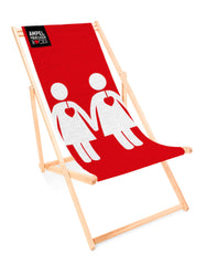 Deckchair Voice of Love Red - for your lazy day in the sun!