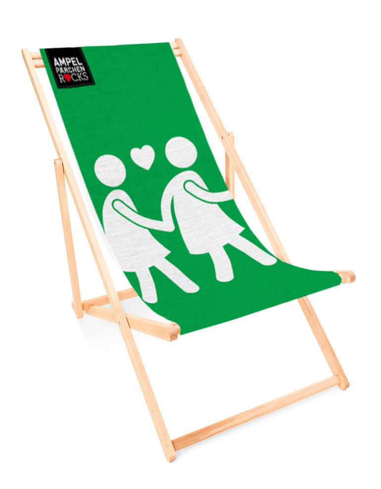 Deckchair Voice of Love Green - for your lazy day in the sun!