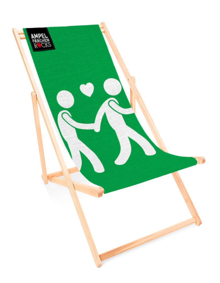 Deckchair Let's go together green- for your lazy day in the sun!