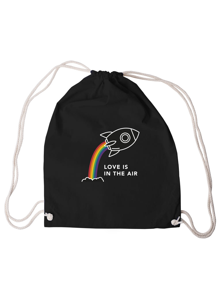 Gym Bag Love is in the Air - Black