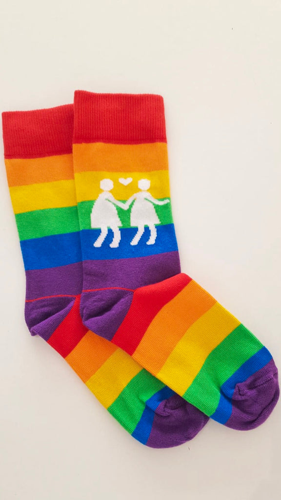 Rainbow Socks to bright your day and carry your message