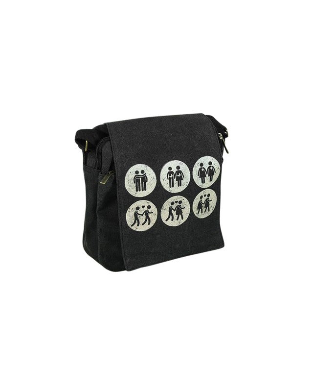 Messengerbag Vintage Mid - Black