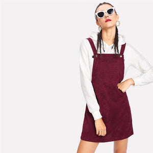 Burgundy Pinafore