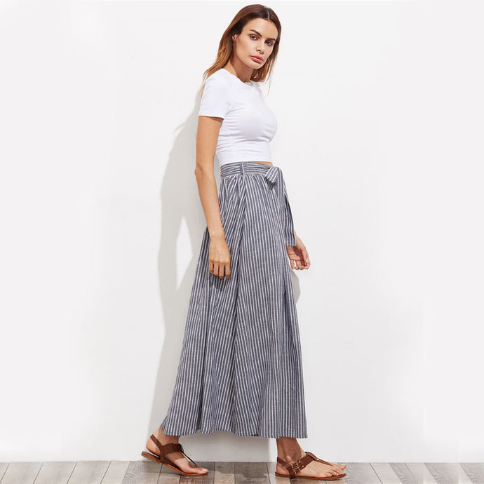 Pinstripe Long Skirt