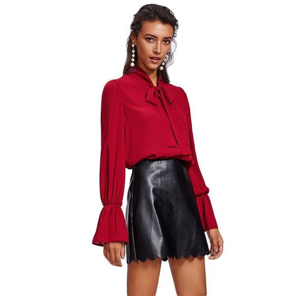 Leather Short Crop Skirt