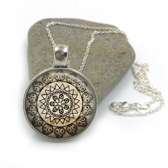 Yoga Jewelry Necklace| Yoga Necklace|yoga gift|yoga mandala|mandala jewelry|mandala necklace|spiritual jewelry|gifts for her| yoga gift yo8