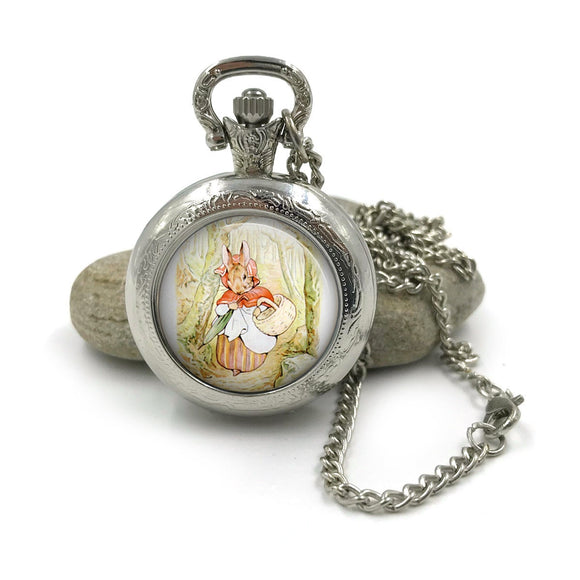 Peter Rabbit Pocket Watch Necklace| Beatrix Potter Jewellery| Peter Rabbit jewelry| Peter Rabbit| gift for wife| Gift for Her| 7