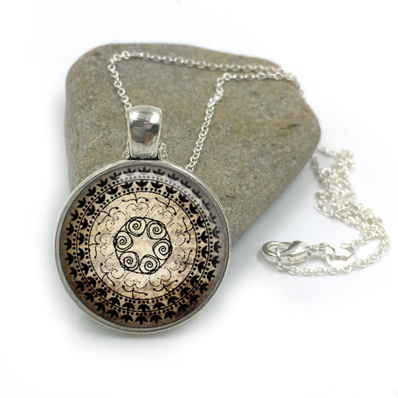 Yoga Jewelry Necklace| Yoga Necklace|yoga gift|yoga mandala|mandala jewelry|mandala necklace|spiritual jewelry|gifts for her| yoga gift yo5