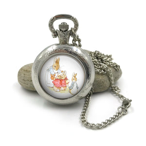 Peter Rabbit Pocket Watch Necklace| Beatrix Potter Jewellery| Peter Rabbit jewelry| Peter Rabbit| gift for wife| Gift for Her| 4