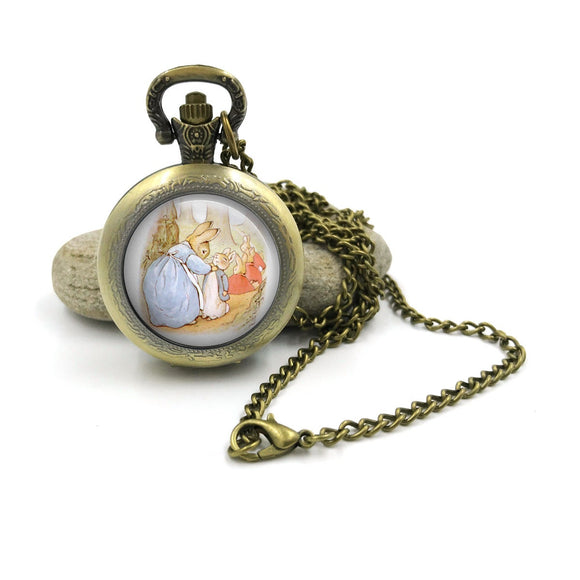 Peter Rabbit Pocket Watch Necklace| Beatrix Potter Jewellery| Peter Rabbit jewelry| Peter Rabbit| gift for wife| Gift for Her| 6