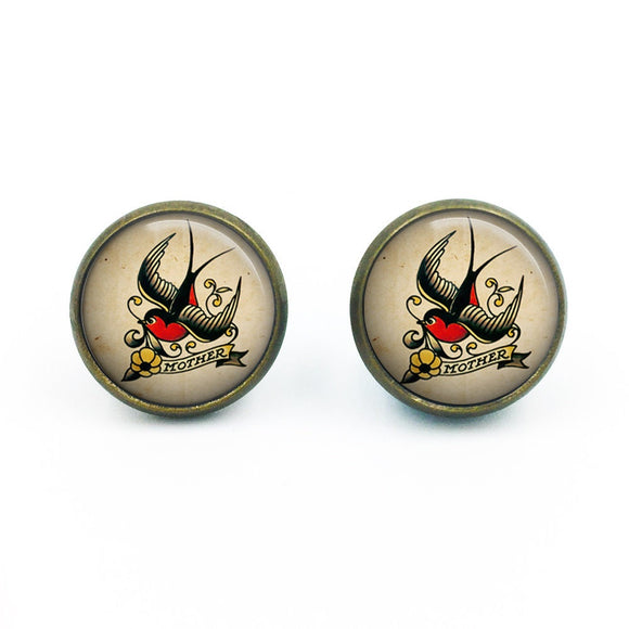 Sailor Jerry Earrings| Nautical Earrings| Rockabilly Earrings| Sailor Jerry| Retro Tattoo| Pinup earrings| gift for her| gift for wife|05