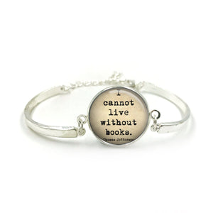 Book Quotes Bangle| Silver Bangle| Book Literacy Jewellery| Book Worm| Book Lover gift| Book Club gifts| Gift for Her| gift for book lover 4