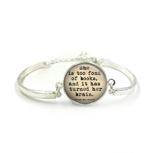Book Quotes Bangle| Silver Bangle| Book Literacy Jewellery| Book Worm| Book Lover gift| Book Club gifts| Gift for Her| gift for book lover 7