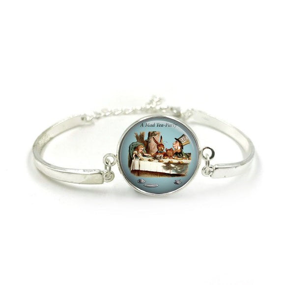Alice in Wonderland Bangle| Silver Bangle| Alice Jewellery| Alice In Wonderland gift| Alice gifts| Gift for Her| gift for Women|Alice Gift 3