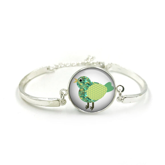 Cute Bird Bangle| Silver Bangle| Bird Jewellery| Bird jewelry| Bird Lover| gift for wife| Bird gifts| Gift for Her| gift for bird lover 4