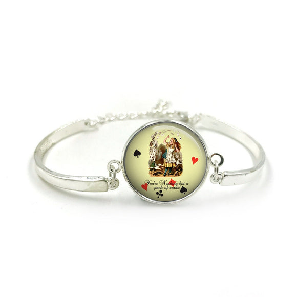 Alice in Wonderland Bangle| Silver Bangle| Alice Jewellery| Alice In Wonderland gift| Alice gifts| Gift for Her| gift for Women|Alice Gift 2