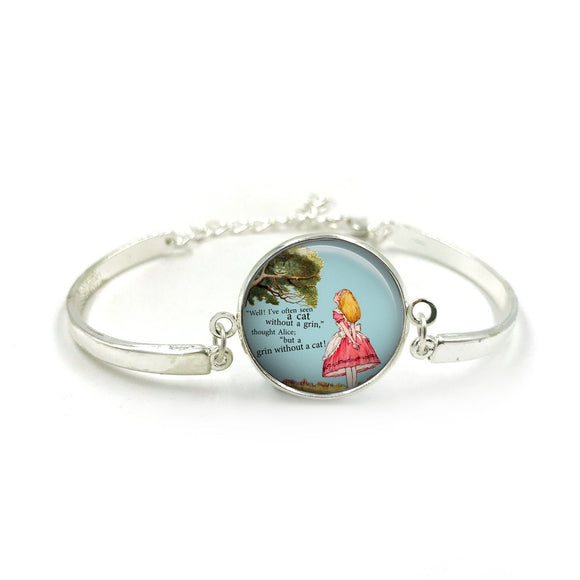 Alice in Wonderland Bangle| Silver Bangle| Alice Jewellery| Alice In Wonderland gift| Alice gifts| Gift for Her| gift for Women|Alice Gift 4