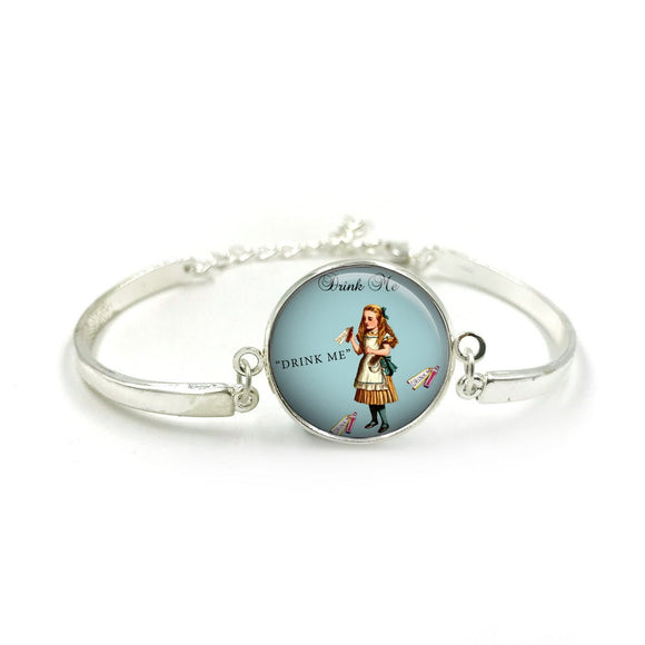 Alice in Wonderland Bangle| Silver Bangle| Alice Jewellery| Alice In Wonderland gift| Alice gifts| Gift for Her| gift for Women|Alice Gift 5