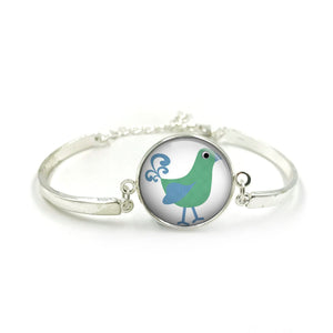 Cute Bird Bangle| Silver Bangle| Bird Jewellery| Bird jewelry| Bird Lover| gift for wife| Bird gifts| Gift for Her| gift for bird lover 5