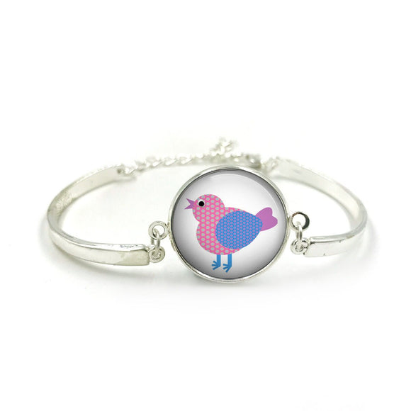 Cute Bird Bangle| Silver Bangle| Bird Jewellery| Bird jewelry| Bird Lover| gift for wife| Bird gifts| Gift for Her| gift for bird lover 6