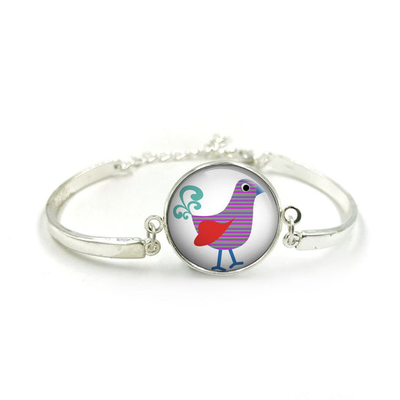Cute Bird Bangle| Silver Bangle| Bird Jewellery| Bird jewelry| Bird Lover| gift for wife| Bird gifts| Gift for Her| gift for bird lover 8