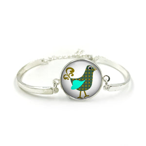 Cute Bird Bangle| Silver Bangle| Bird Jewellery| Bird jewelry| Bird Lover| gift for wife| Bird gifts| Gift for Her| gift for bird lover 10