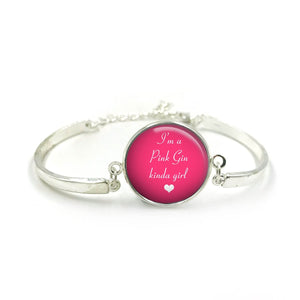Pink Gin Bangle| Silver Bangle| Pink Gin Jewellery| Sayings jewelry| Gin Lover| gift for wife| Gin gifts| Gift for Her| gift for gin lover|