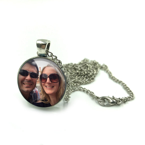Personalised Silver Double Sided Photo Pendant Necklace| Personalized Photo Necklace| Mothers Day Gift| Gift for Mum| Gift for girlfriend 01