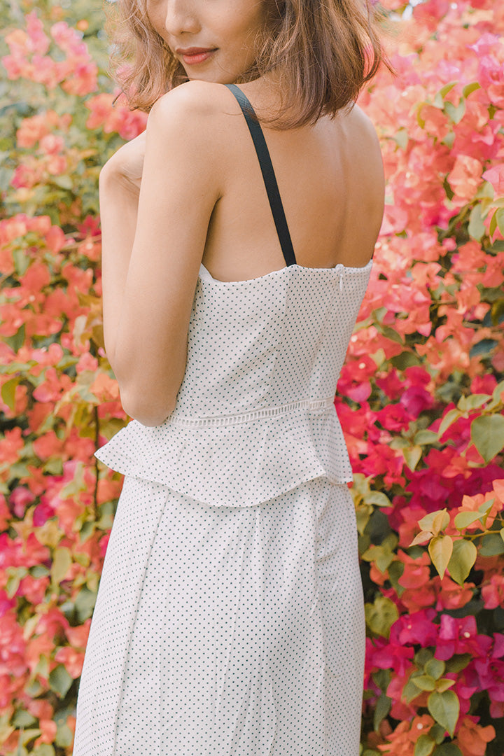 BIRKIN DOTTY MAXI DRESS (WHITE)