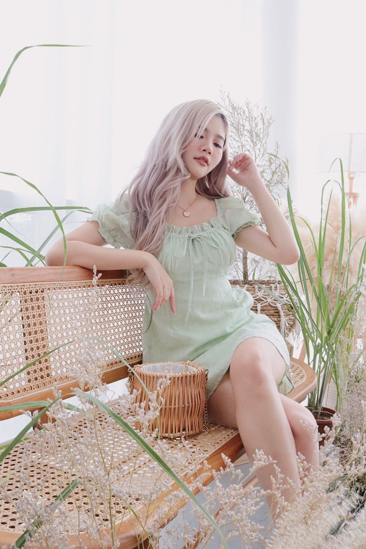 FIORA 2 WAY DRESS (APPLE GREEN)