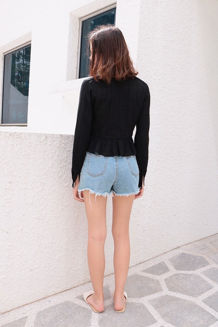LACE DUST SLIP ON TOP (BLACK)