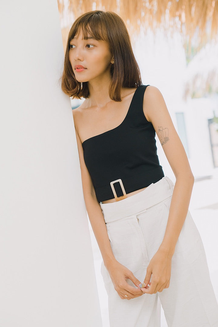 YACHT TOGA BASIC CROP (BLACK)