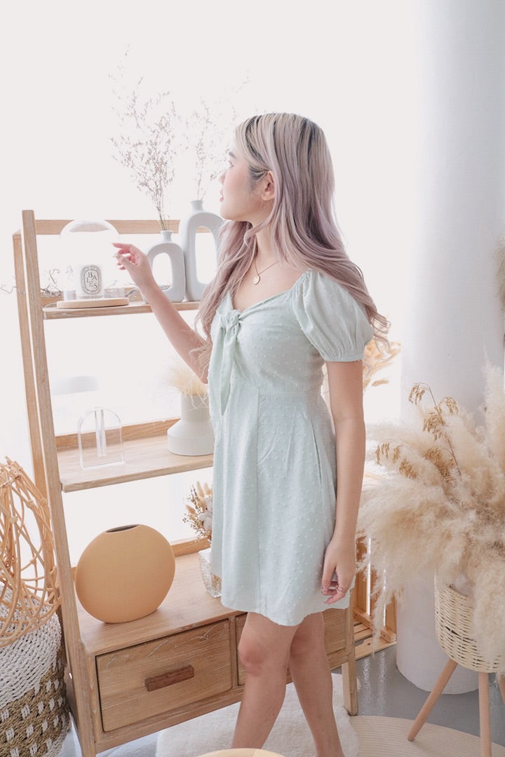 MILANO SWISS BOW DRESS (MINT)