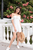 VALENTINA EYELET OFF-S DRESS (WHITE)