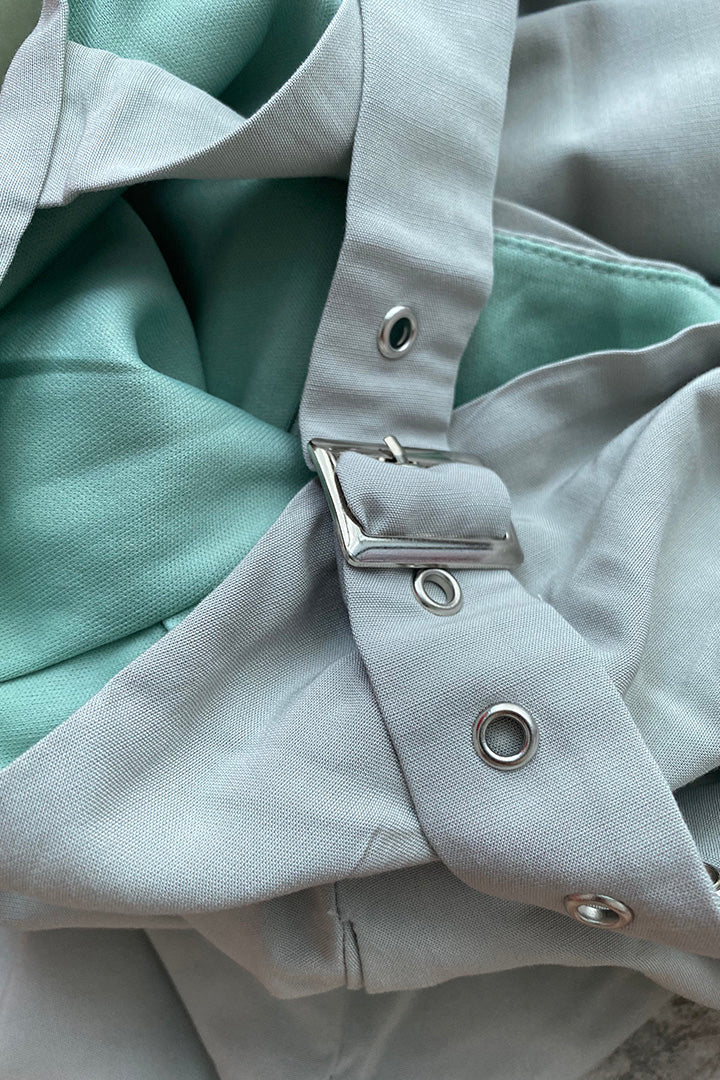 AKILA BUCKLE BASIC DRESS (SEAFOAM)